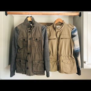 Thread & Supply sz small utility jacket lot of 2